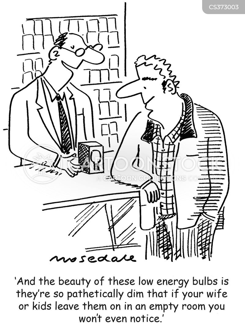 low energy light bulbs cartoon