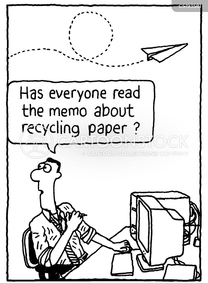 Paper Recycling Cartoons and Comics - funny pictures from CartoonStock