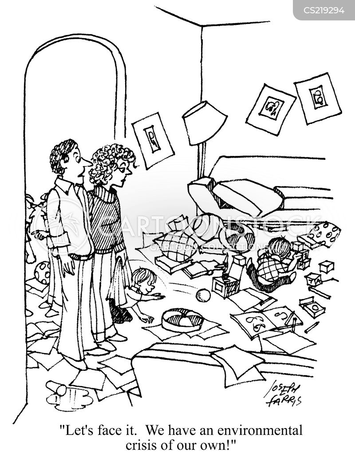 messy house cartoon