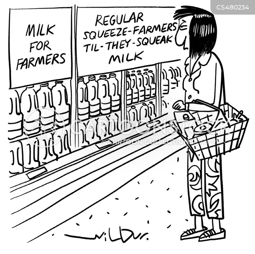 dairy produce cartoon