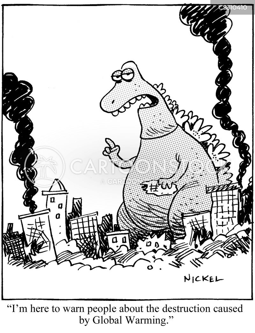 destruction of the planet cartoon