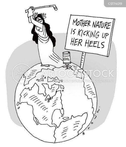 oil company cartoon