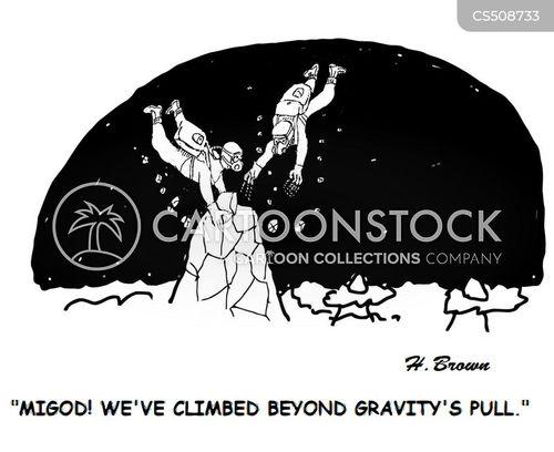 force of gravity cartoon
