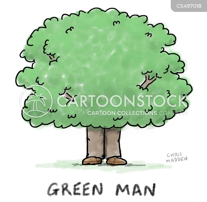 green man cartoon