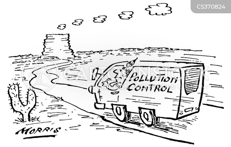 pollution controllers cartoon