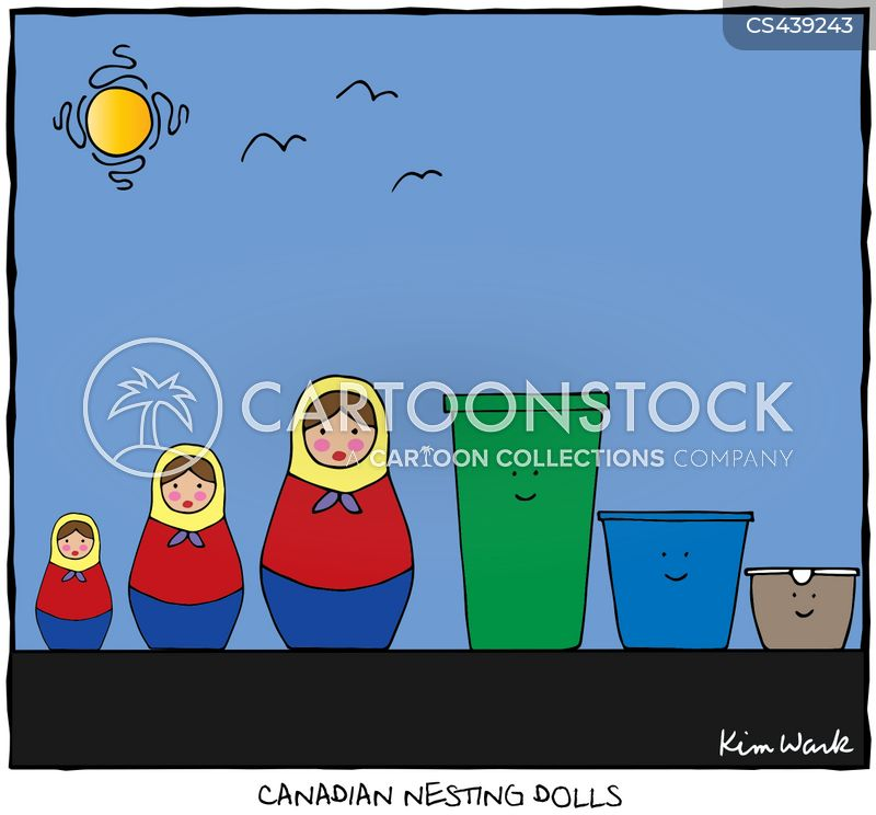 nesting doll cartoon