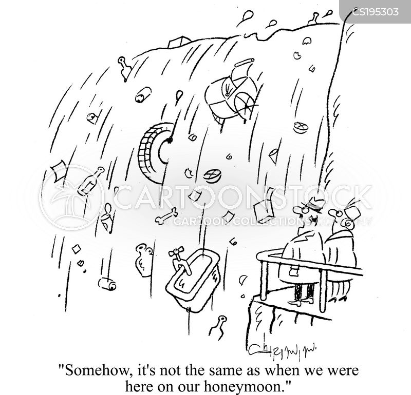 waterfall cartoon