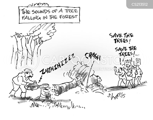 save the trees cartoon