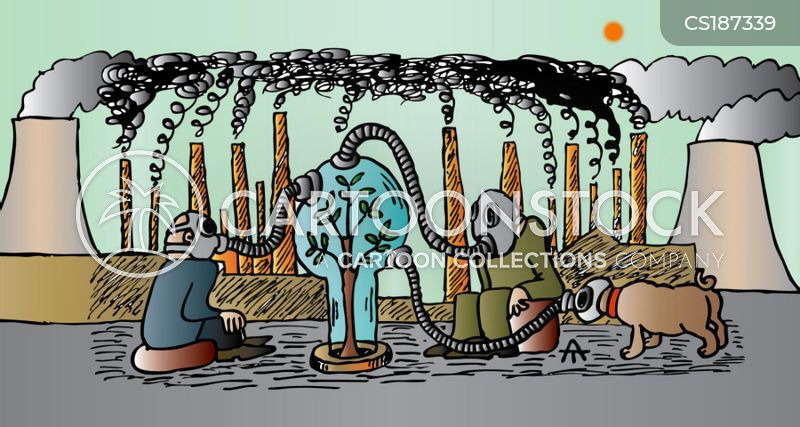 industrial pollution cartoon