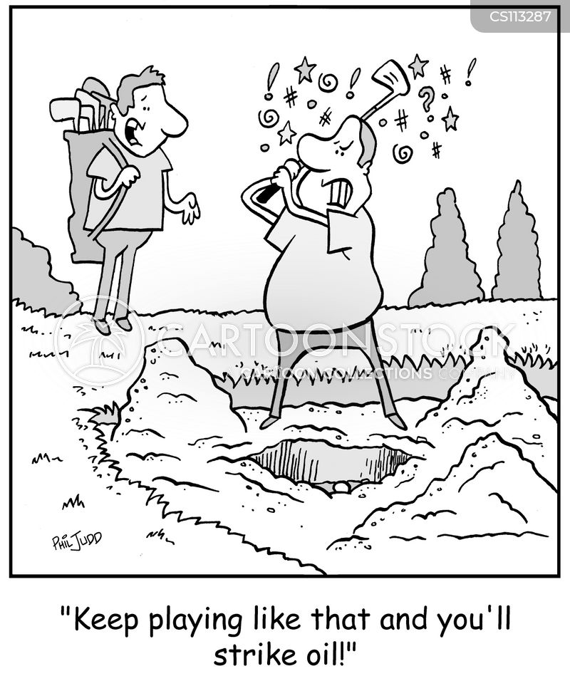 oil wells cartoon