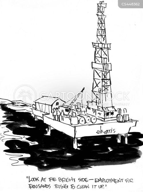 offshore oil rigs cartoon
