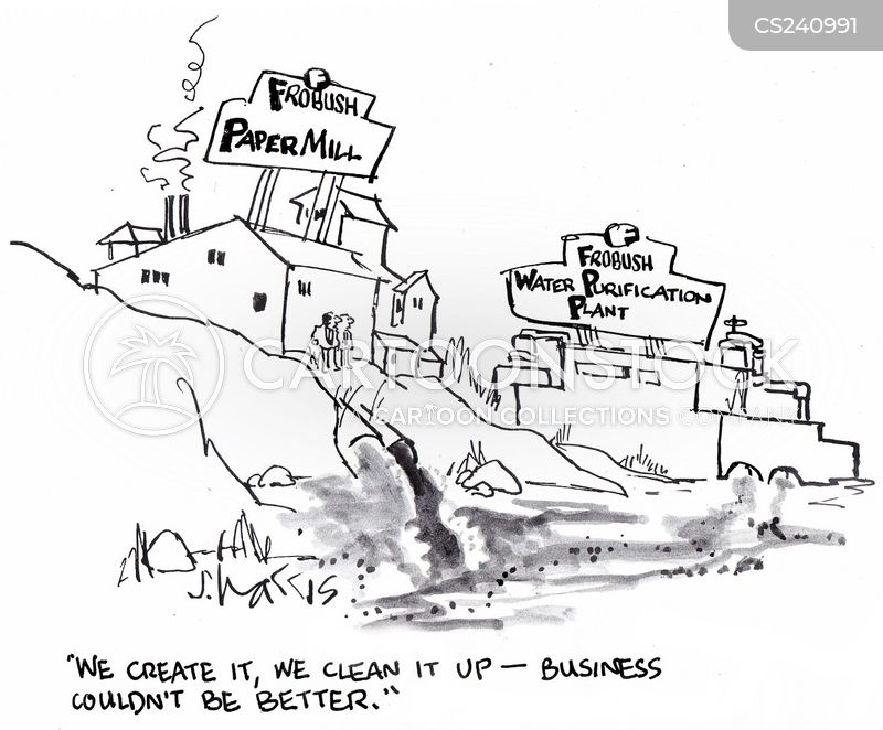 Industrial Cartoon Pictures Industrial Wastes Cartoon 3 of