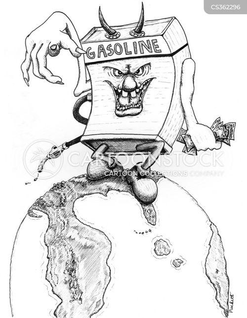 gas sations cartoon