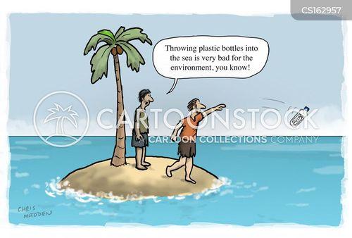 plastic packages cartoon