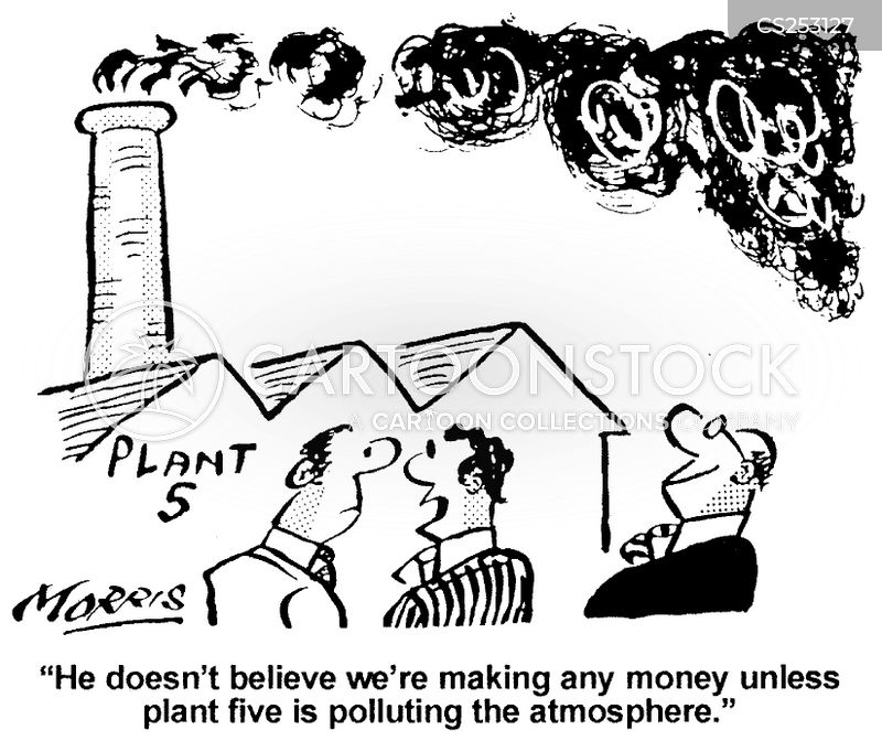 factory smog cartoon
