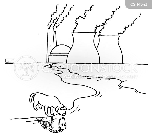 industrial waste cartoon