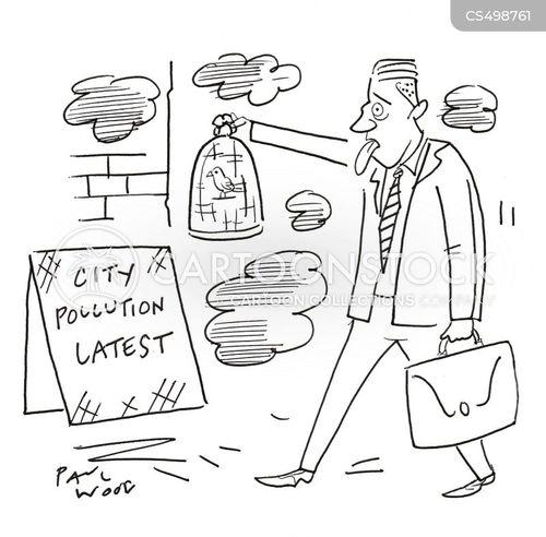 air pollutants cartoon