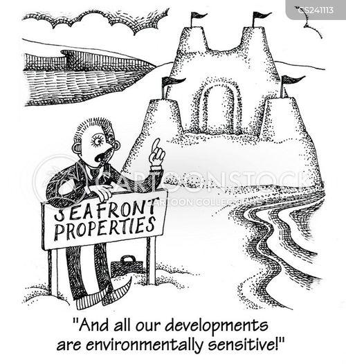 seafront cartoon