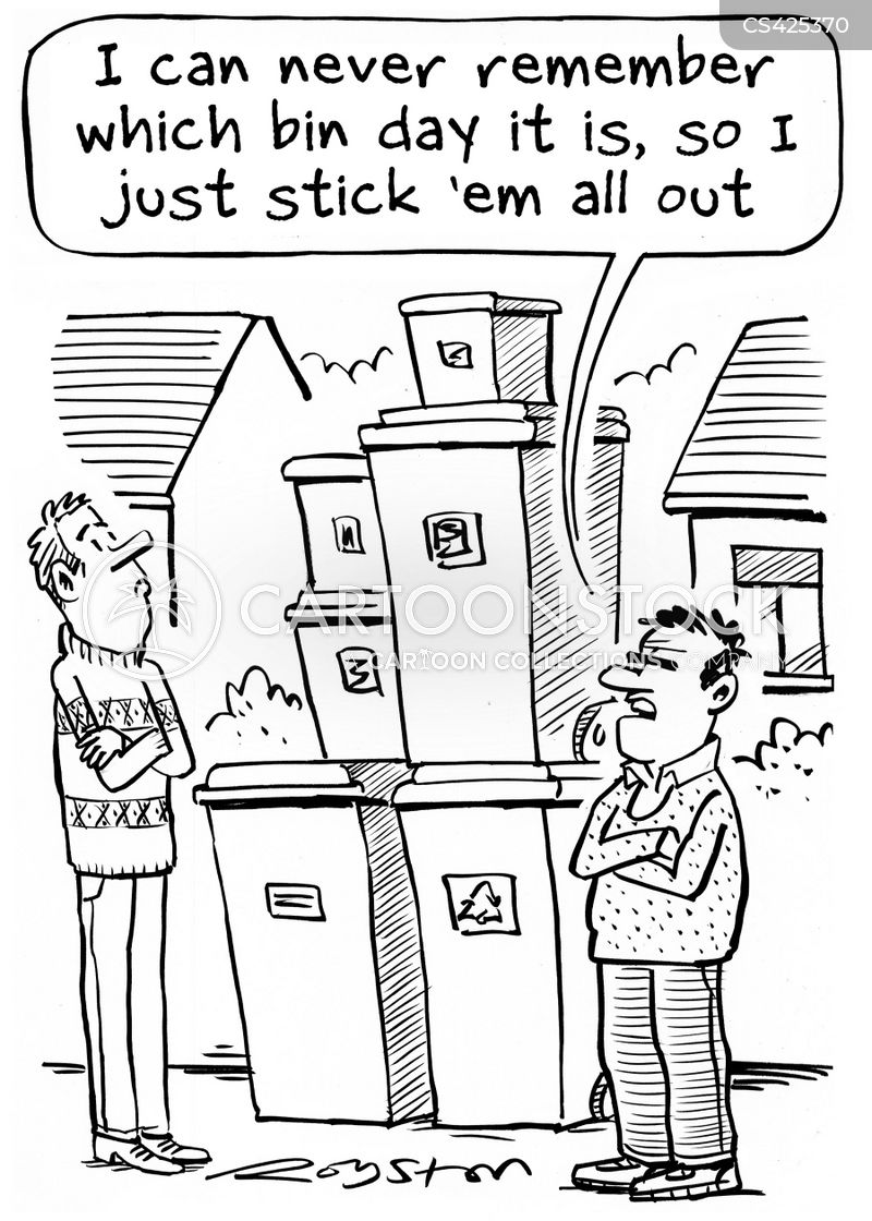 bin collectors cartoon