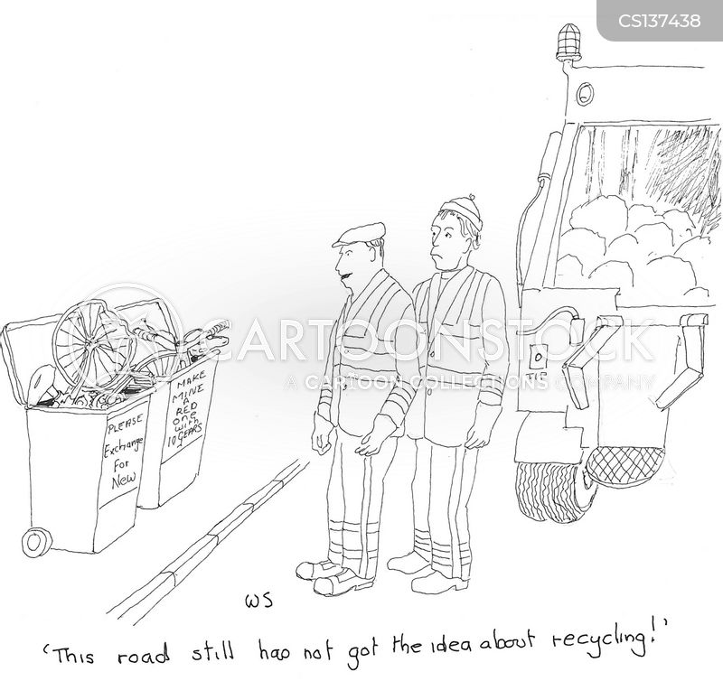 garbage collection cartoon