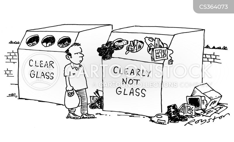 Glass Recycling Cartoons and Comics - funny pictures from CartoonStock