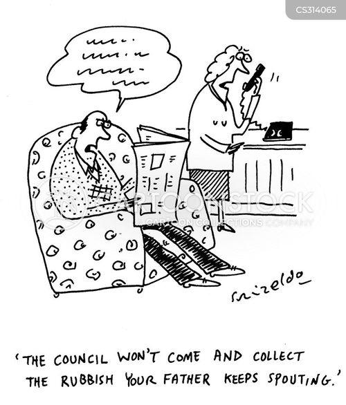 rubbish collections cartoon