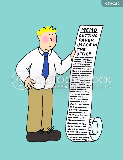 paperless office cartoon