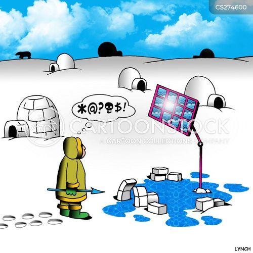 solar powered cartoon