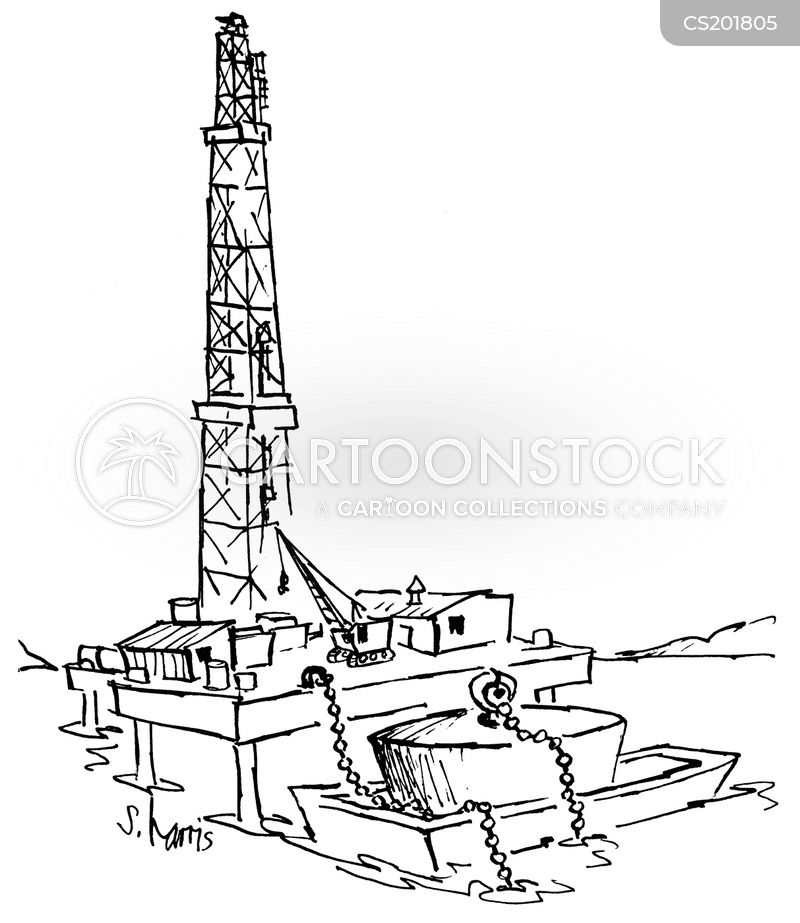 oil platforms cartoon