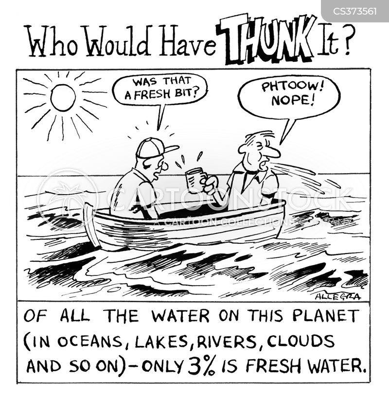 drinking waters cartoon