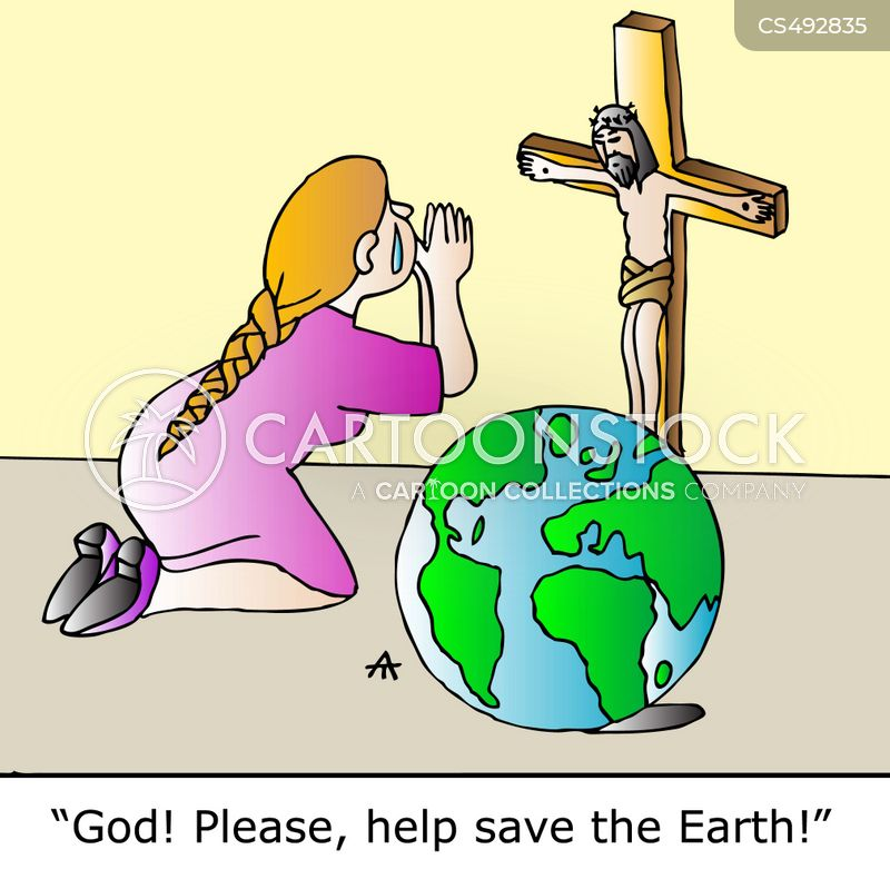 save the earth cartoon