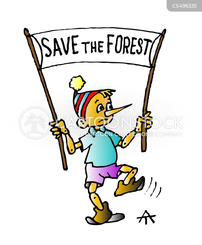 save the forest cartoon
