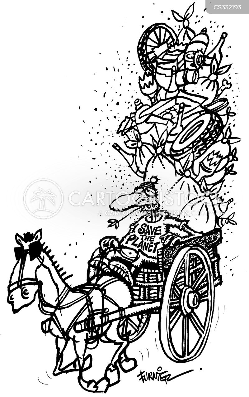 Horse And Carriage Drawing Horse Drawn Carriage Cartoon 3