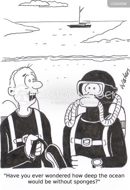 deep water cartoon