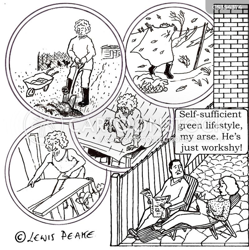 self sufficient cartoon