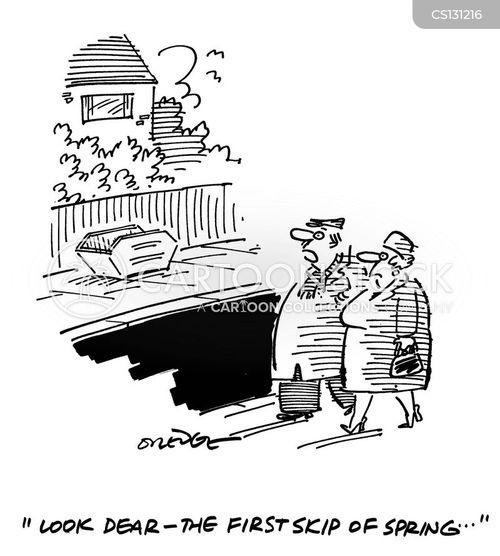 rubbish collector cartoon