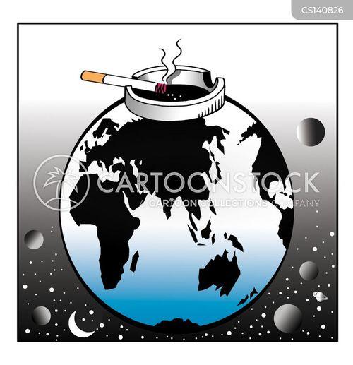 ecology greenhouse gases cartoon