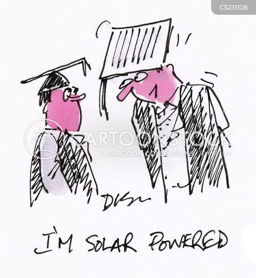 powering cartoon