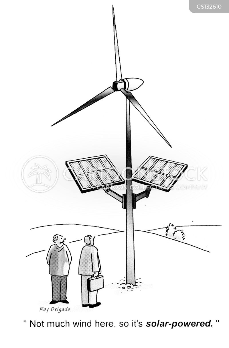 wind farms cartoon