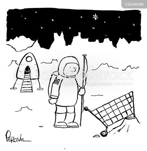 space walk cartoon