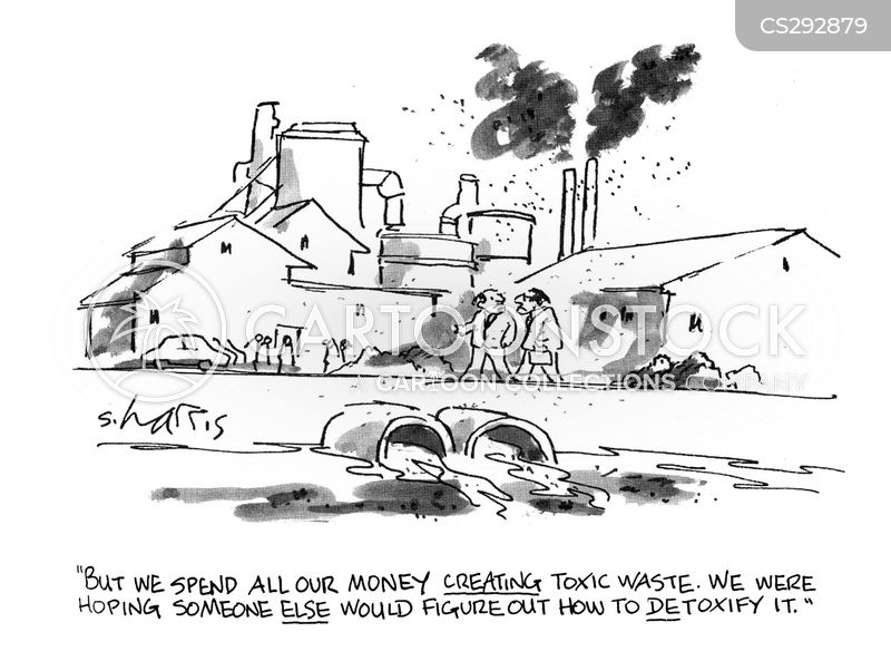 toxic wastes cartoon