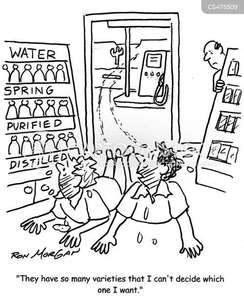 distilled water cartoon