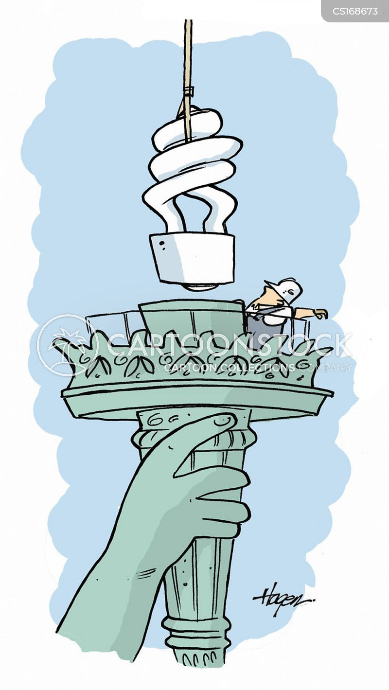 statue of liberty cartoon