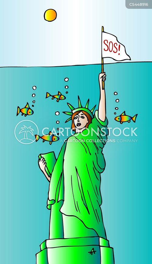 ocean levels cartoon