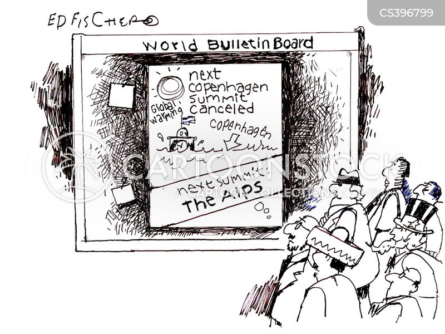 green house gases cartoon
