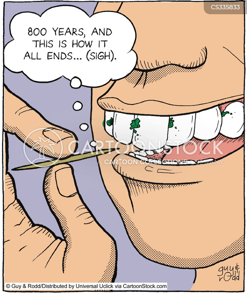 tooth picks cartoon