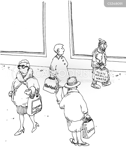 medical waste cartoon