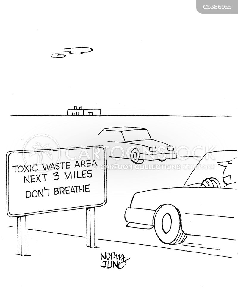 industrial pollutions cartoon