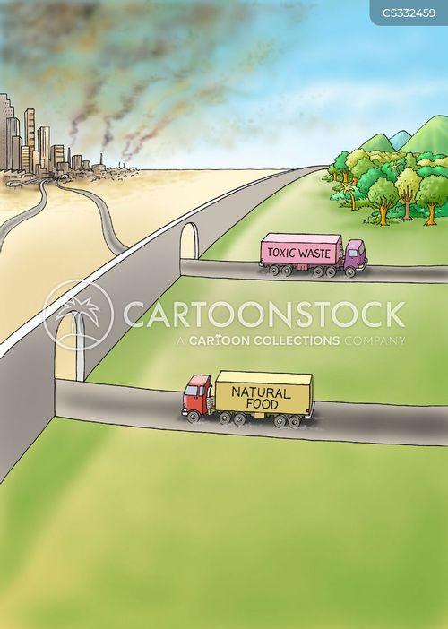 natural food cartoon