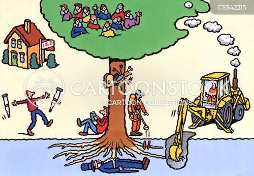 destruction of natural habitats cartoon